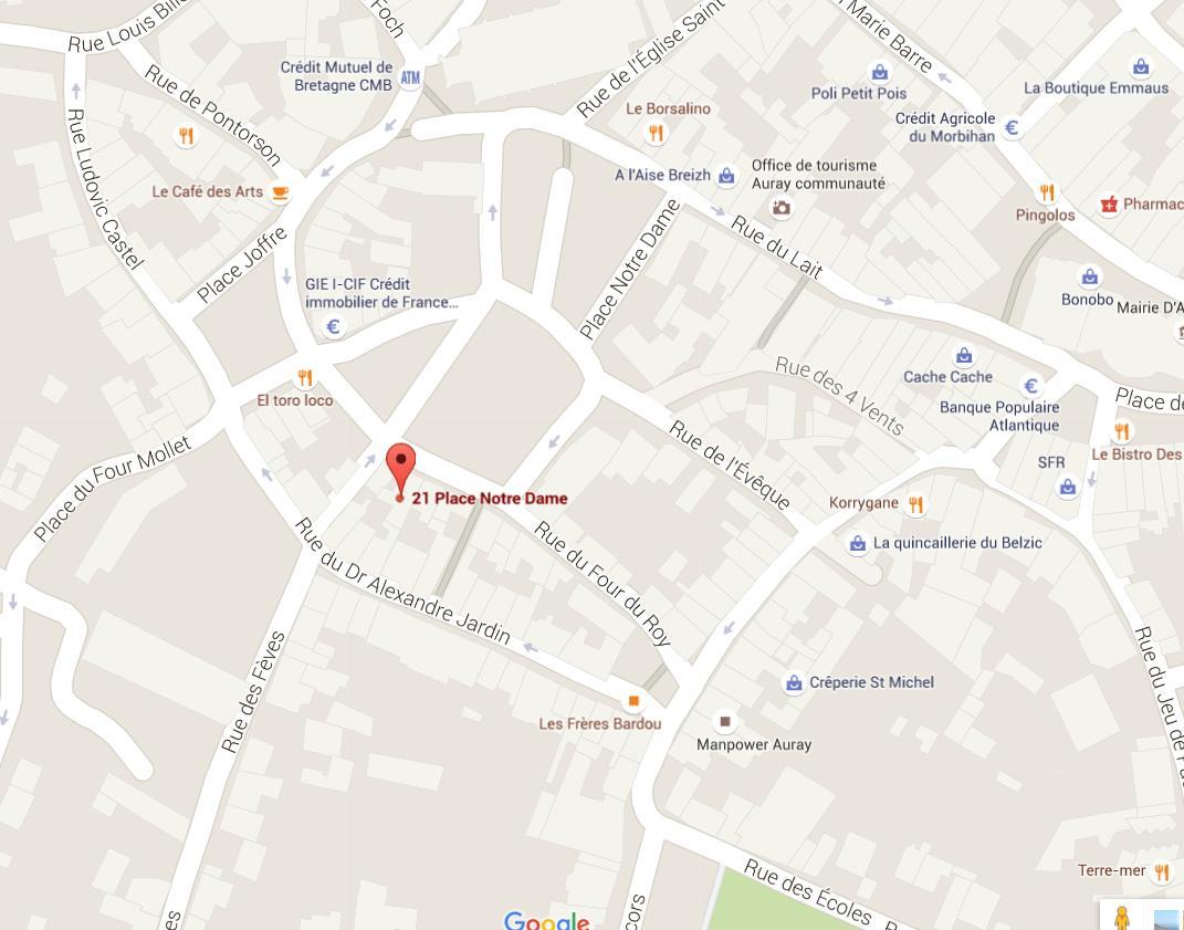 Situation de l'agence Courtimmo Bretagne d'Auray